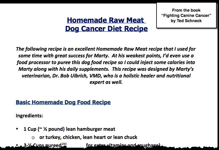 Dog Cancer Diet Recipe